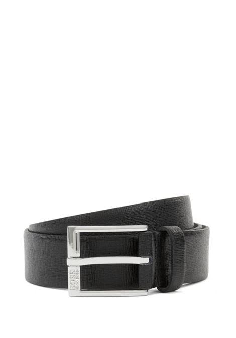Cintura in pelle palmellata con stampa goffrata e fibbia incisa BOSS | Cinture | 50386182001