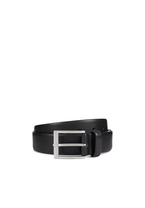 Smooth-leather belt with brusched-silver buckle. Hugo Boss HUGO BOSS |  | 50389781001