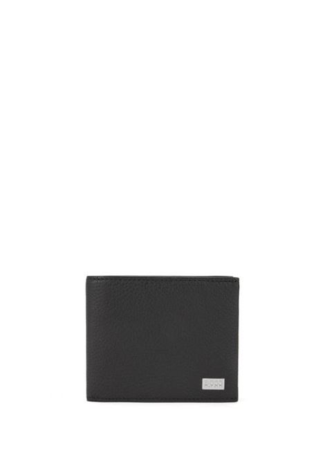 Tri-fold wallet in textured leather made in Italy BOSS | Wallets | 50390390001