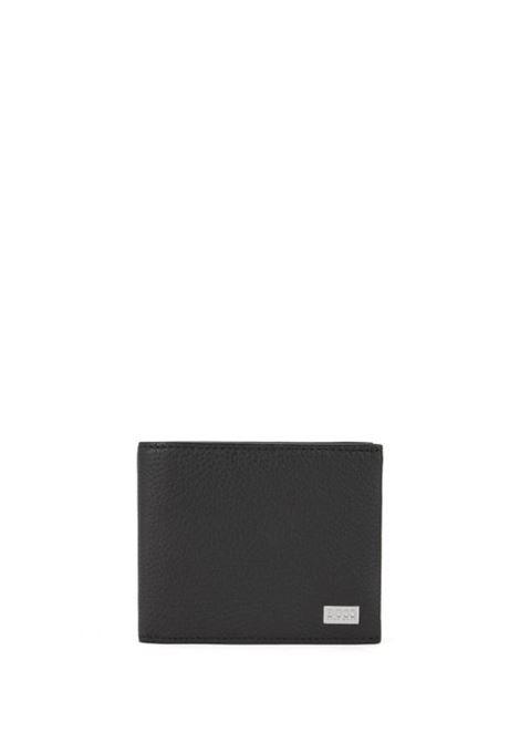 Portafoglio tri-fold in pelle martellata realizzata in Italia BOSS | Portafogli | 50390390001