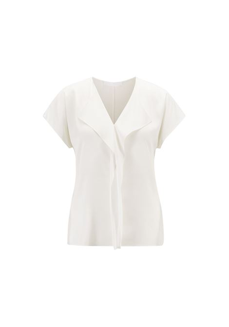 Blusa con ruche in crêpe de chine di seta HUGO BOSS | Top | 50395641112
