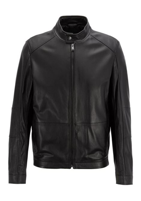 Blouson regular fit in nappa di agnello HUGO BOSS | Giubbini | 50398851001