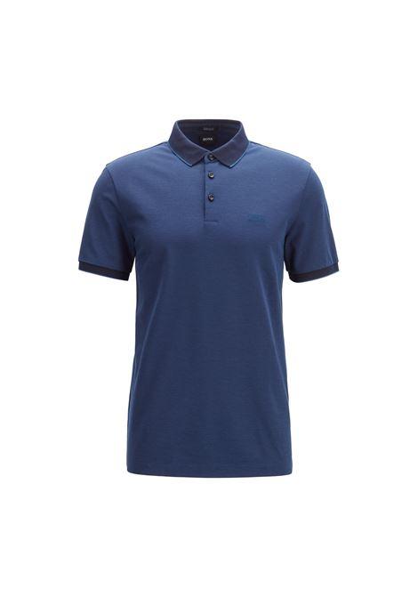 Polo regular fit in piqué oxford bicolore BOSS | Polo | 50403124402