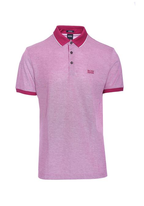 Regular fit polo shirt in two-tone oxford piquè BOSS | Polo Shirts | 50403124656