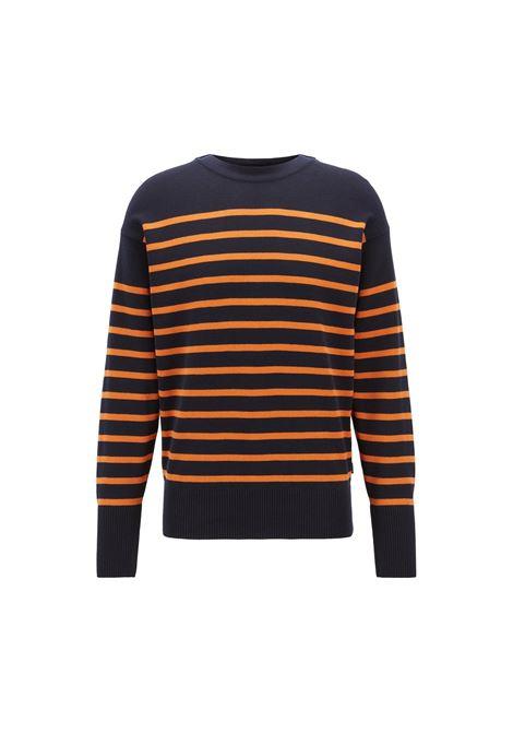 Striped cotton sweater with overlappimg neckline. HUGO BOSS HUGO BOSS |  | 50403606814