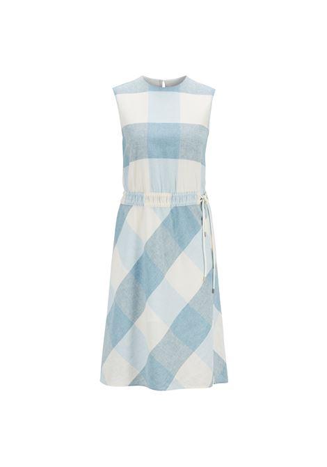 Linen-blend checked dress with drawstring waist. HUGO BOSS HUGO BOSS | Dresses | 50403735417