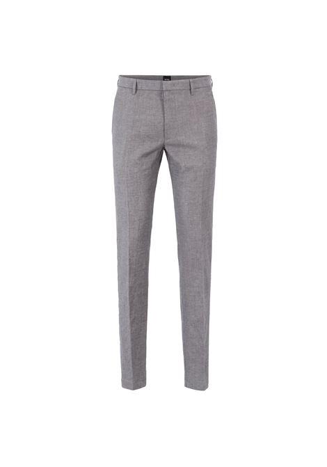 Pantaloni chino slim fit in misto lino-cotone. BOSS | Pantaloni | 50403928069