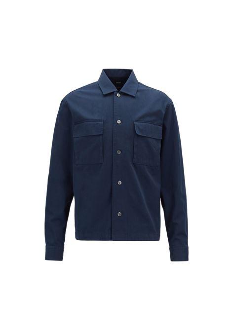 Camicia relaxed fit in twill di cotone pesante. HUGO BOSS | Camicie | 50403973480
