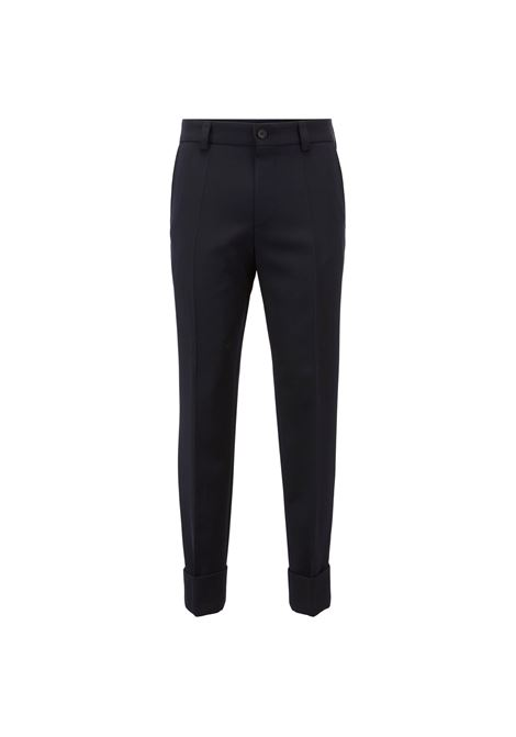 Relaxed ankle-length trousers in virgin wool BOSS | Trousers | 50404455480