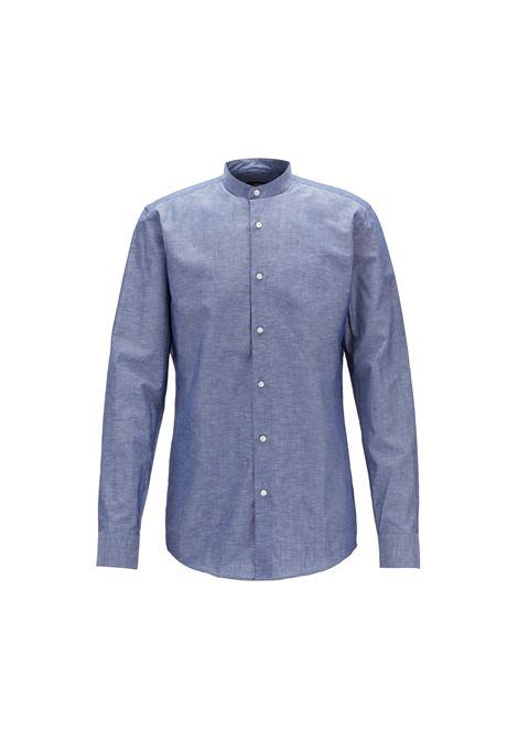 Camicia in misto cotone-lino italiano. HUGO BOSS | Camicie | 50405145410