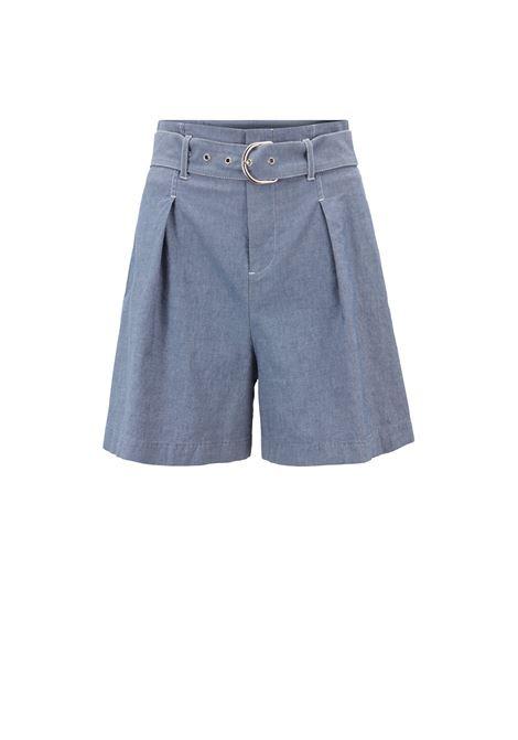 High-waisted shorts with belt BOSS |  | 50405416464