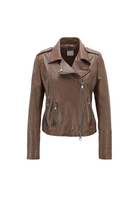 Asymmetric regular-fit biker jacket in nappa leather BOSS |  | 50405466099