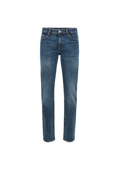 Jeans slim fit green-cast in denim italiano BCI. BOSS | Jeans | 50405490430