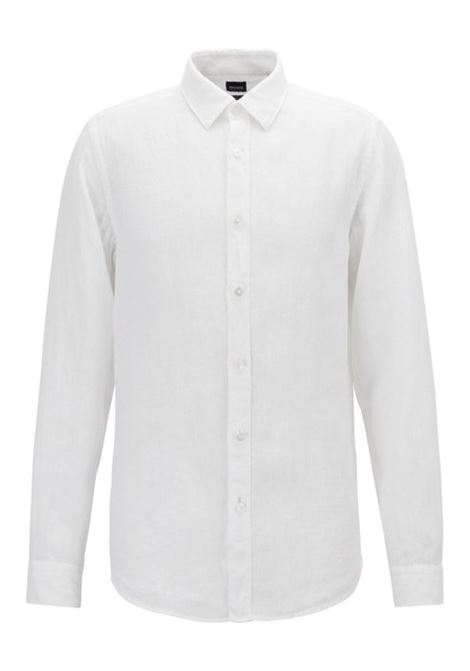 Regular-fit shirt in linen with roll-up sleeves. Hugo Boss HUGO BOSS |  | 50405666100