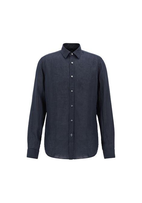 Camicia regular fit in lino. HUGO BOSS | Camicie | 50405666402