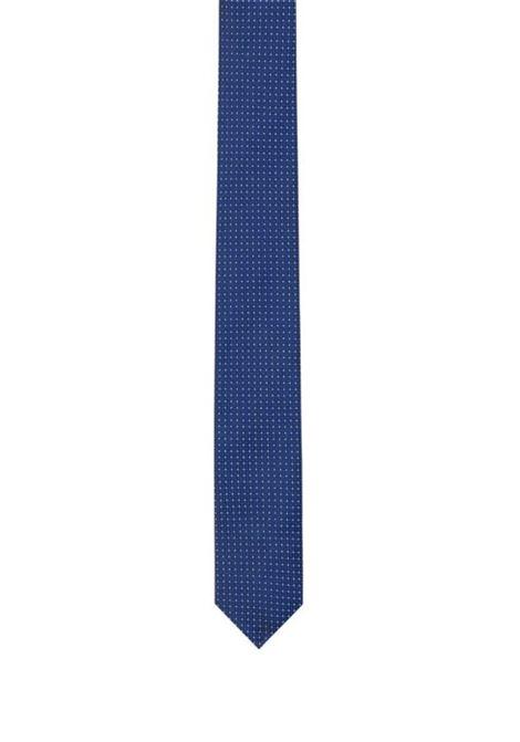 Cravatta in seta jacquard con microdisegni HUGO BOSS | Cravatte | 50406071422