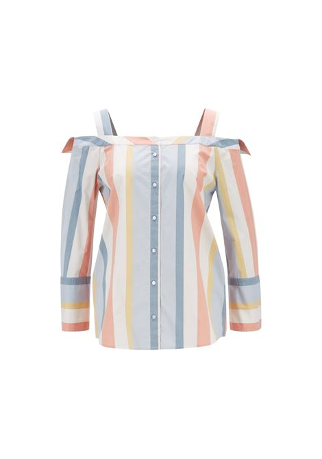 Blouse with bare shoulders in cotton BOSS |  | 50406182967