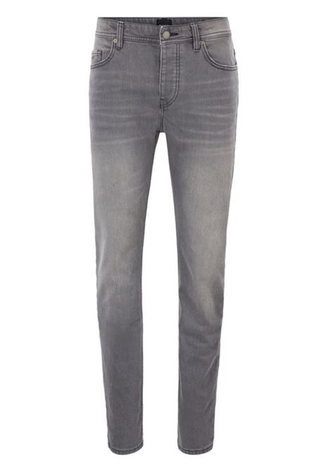 Fit tapered jeans in comfortable steel gray stretch denim HUGO BOSS | Trousers | 50406247030