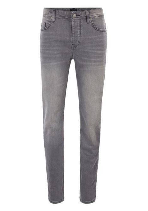Jeans tapered fit in comodo denim elasticizzato grigio acciaio HUGO BOSS | Jeans | 50406247030