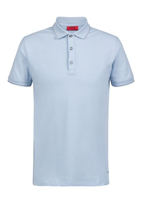 Polo slim fit con profili a righe HUGO BOSS | Maglie | 50406664453