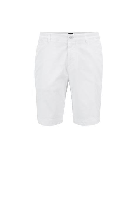 Pantaloncini slim fit in twill HUGO BOSS | Bermuda | 50406679100