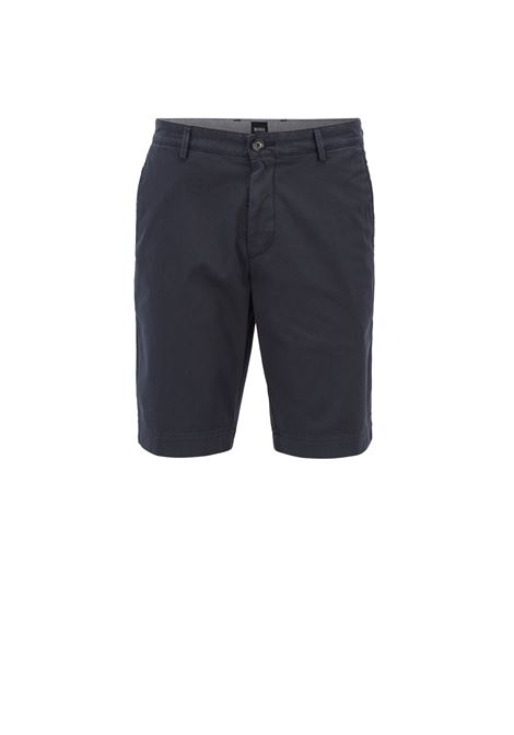 Pantaloncini slim fit in twill HUGO BOSS | Bermuda | 50406679402
