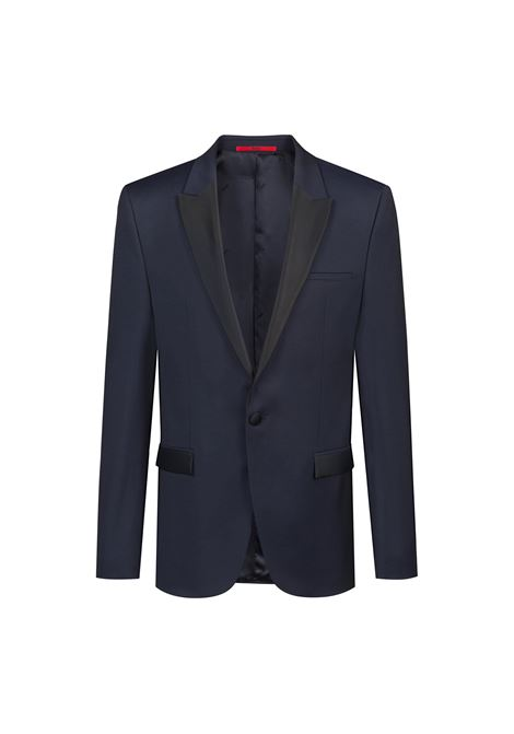 Giacca extra slim fit in lana vergine con finiture a contrasto. HUGO | Giacche | 50406940401