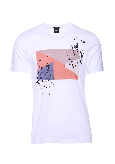 T-shirt slim fit con stampa astratta BOSS | T-shirt | 50406995100