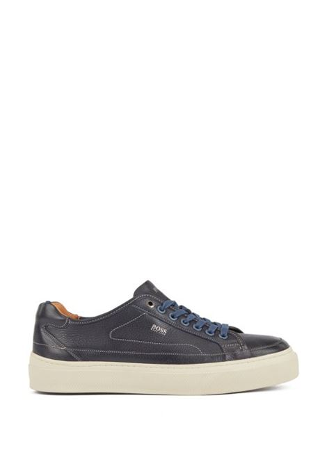 Sneakers in pelle di vitello suola monogrammata BOSS | Scarpe | 50407587401