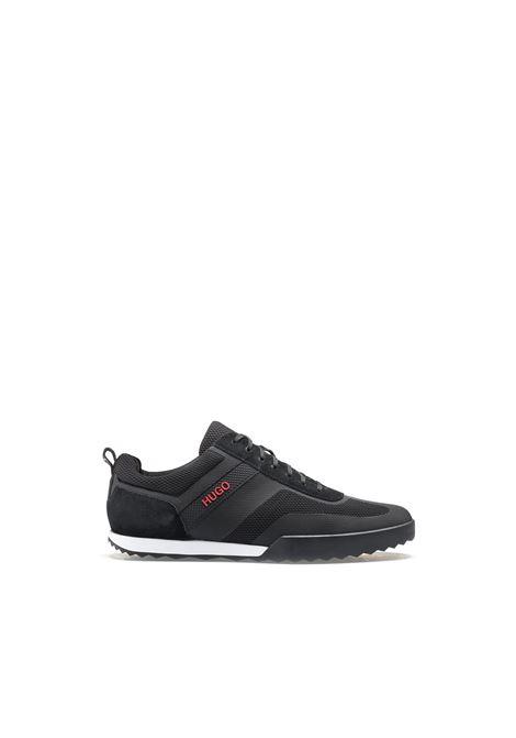 Sneakers basse stringate in rete e pelle scamosciata. HUGO BOSS | Scarpe | 50407638001