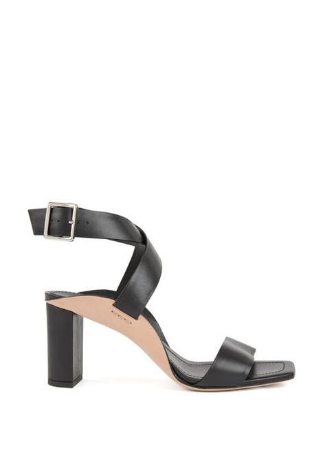 Sandali in pelle con tacco largo HUGO BOSS | Scarpe | 50408151001