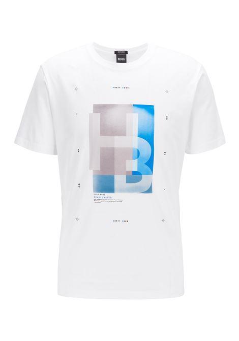 Logo-print T-shirt in Pima cotton with Morse code BOSS | T-shirt | 50409902100