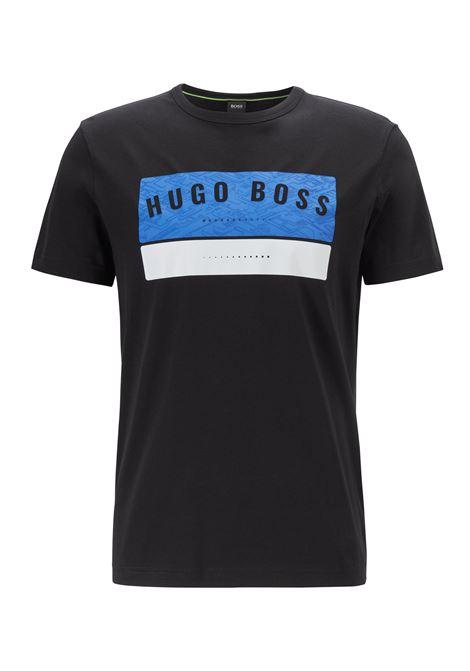 T-shirt in cotone con logo stampato ad alta densità BOSS | T-shirt | 50410460001
