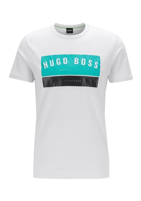 T-shirt in cotone con logo stampato ad alta densità BOSS | T-shirt | 50410460100