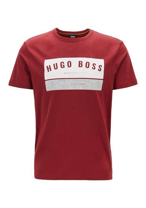 T-shirt in cotone con logo stampato ad alta densità BOSS | T-shirt | 50410460653