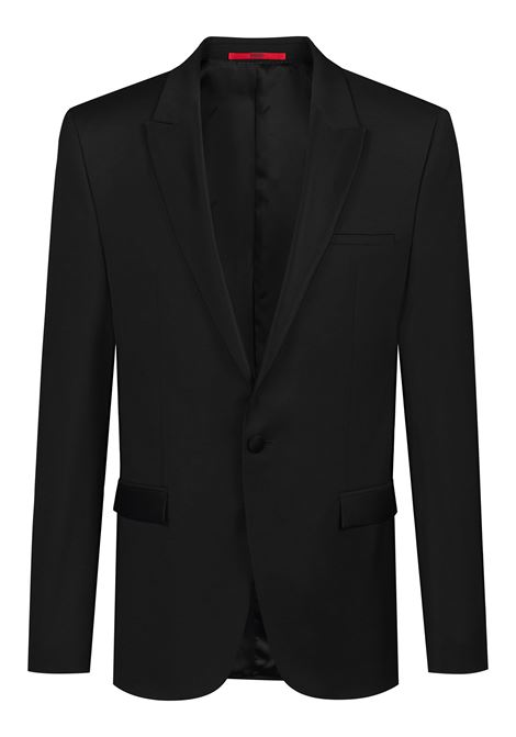 Giacca extra slim fit in lana vergine con finiture a contrasto HUGO | Giacche | 50406940001