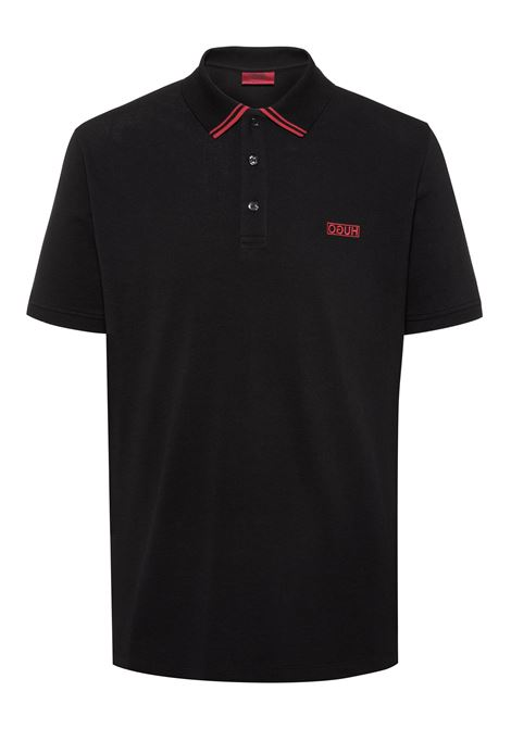 Polo in piqué di cotone con logo reversed HUGO | Polo | 50410892001