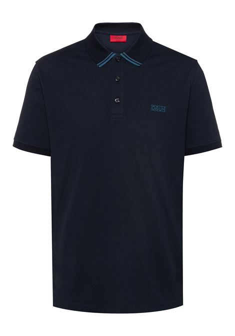 Reverse-logo polo shirt in cotton piqué HUGO | Polo Shirts | 50410892405