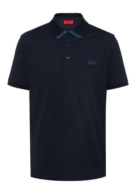 Polo in piqué di cotone con logo reversed HUGO | Polo | 50410892405