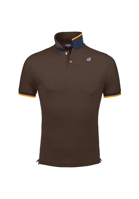 Polo vincent contrast - Marrone K-WAY | Polo | K008J50E14