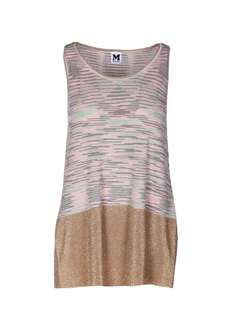 Long sleeveless round neck tank top. M.MISSONI M. MISSONI | Sweaters | 2DN00052 2K000IF000E