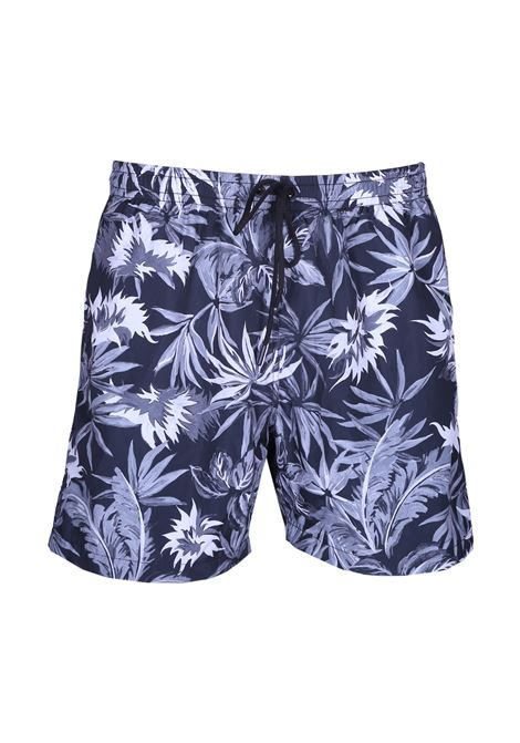 Floral pattern sea boxer PAOLO PECORA | Swimwear | 6005 T556S901