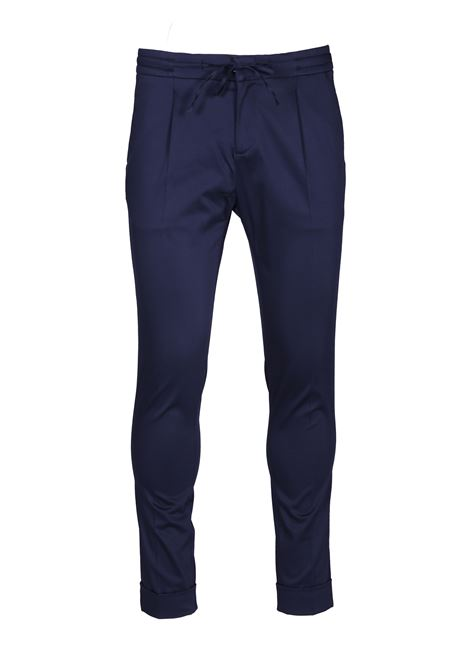 Trousers with central crease and drawstring PAOLO PECORA | Trousers | B111 04336685