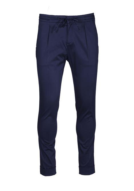 Pantalone con piega centrale e coulisse PAOLO PECORA | Pantaloni | B111 04336685