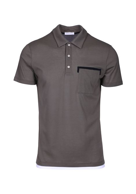 Polo shrt with contrasting detail PAOLO PECORA | Polo Shirts | F311 41385407