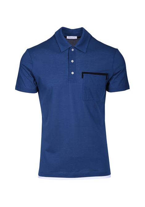 Polo shirt with contrasting detail PAOLO PECORA | Sweaters | F311 41386809