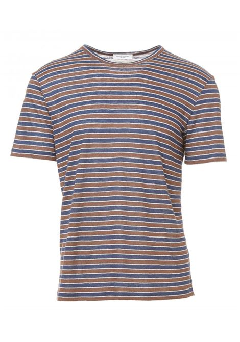 T-shirt in lino a righe PAOLO PECORA | T-shirt | F351 4873R261