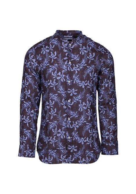 Floral print mandarin collar shirt PAOLO PECORA | Shirts | G112 3603S2Y1
