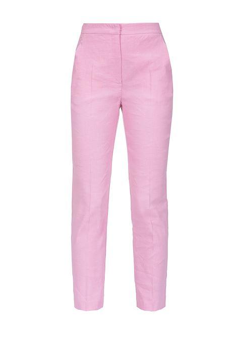 Pantaloni in tela di lino e viscosa. PINKO | Pantaloni | 1B13QY-7435O79