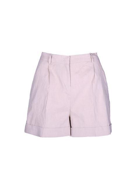 SHORTS IN TELA DI LINO E VISCOSA PINKO | Shorts | 1B13SC-7435C50